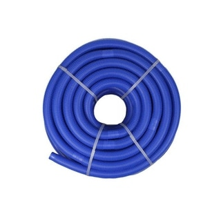 """Blue Blow-Molded PE In-Ground Swimming Pool Cuttable Vacuum Hose - 147.5' x 1.25"""""""