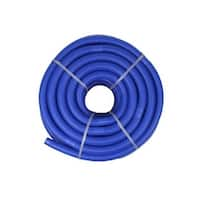 """Blue Blow-Molded PE In-Ground Swimming Pool Cuttable Vacuum Hose - 147.5' x 1.5"""""""