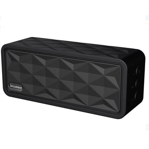 Sylvania SP262-BLACK Rugged Wireless Bluetooth Portable Speaker Manufacturer Refurbished
