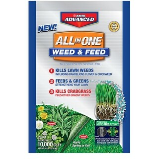 Bayer Advanced 704418S All In One Weed And Feed Granules, 10 M