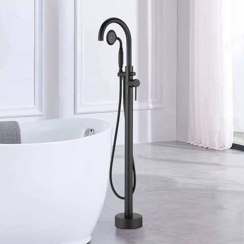 Freestanding Claw Foot BathTub Faucet with Handheld Shower Tub Filler