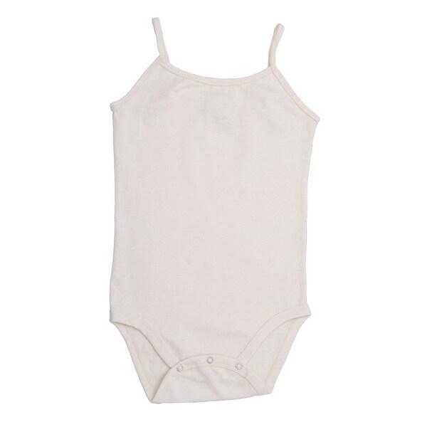 Baby Girls White Spaghetti Strap Ultra Soft Organic Cotton Bodysuit 0-12M