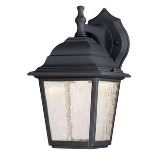 """Westinghouse 6400100 11"""" Tall 3 Light LED Outdoor Lantern Wall Sconce - Black"""