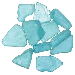 Genuine Glass Gems 1lb-Pacific Blue - Green