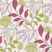 Brewster 2535-20630 Eden Purple Modern Leaf Trail Wallpaper - N/A