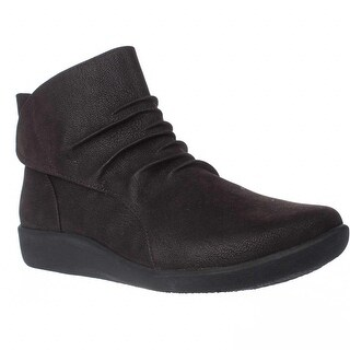 Clarks Sillian Chell Ruched Comfort Boots, Brown