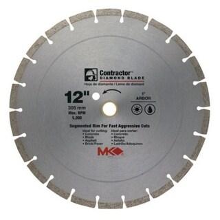 """MK Diamond 167018 Mk-99 Arbor Segmented Rim Diamond Blade, 12"""""""