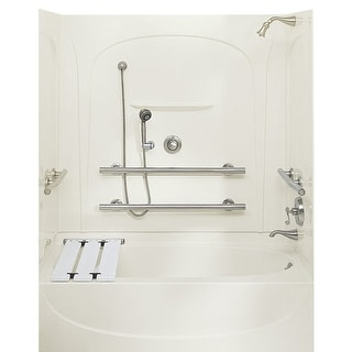 Sterling 71091112 Acclaim 5 Foot Three Wall Alcove Soaking Tub with Left Hand Dr - White