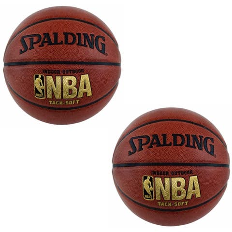 "Spalding NBA Tack Soft Basketball (29.5"") 2 pack"