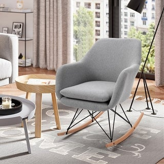 Link to FurnitureR Switch Upholstery Rocker Accent Chair Similar Items in Living Room Chairs