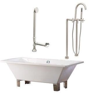 """Giagni LT6-C Tella 66"""" Free Standing Soaking Tub Package - Includes Tub, Tub Fee"""