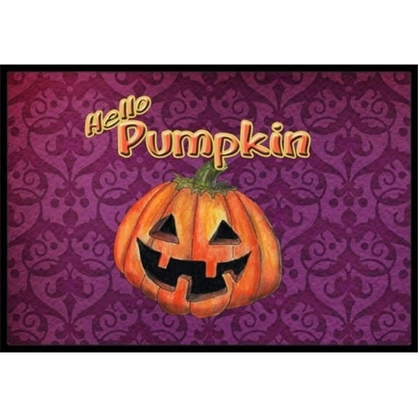 Carolines Treasures SB3017MAT 18 x 27 in. Hello Pumpkin Halloween Indoor Or Outdoor Mat