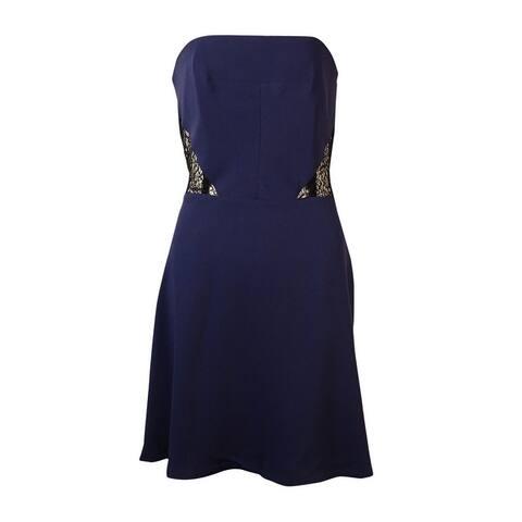 RACHEL Rachel Roy Women's Illusion Lace Strapless Dress