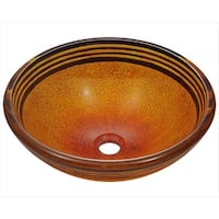 MR Direct 615 Hand Painted Glass Vessel Sink