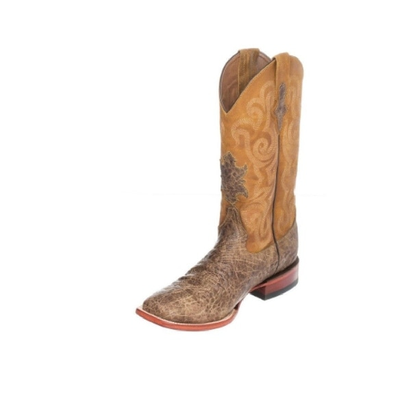 Ferrini Western Boots Mens Elephant Print Square Toe Cigar