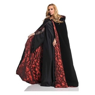 "63"" Deluxe Velvet Adult Costume Accessory Cape - Red Satin Lining"