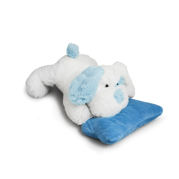 Beverly Hills Teddy Bear Company Puppy with Rattle, Blue