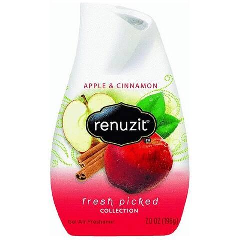 Renuzit Fresh Picked Collection Gel Air Freshener, Apple and Cinnamon 7 oz