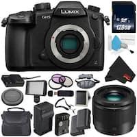 Panasonic Lumix DC-GH5 Mirrorless Micro Four Thirds Digital Camera (Body Only) + Panasonic Lumix G 25mm Lens Bundle