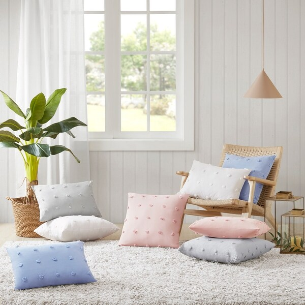 Urban Habitat Maize Cotton Jacquard Pom Pom Pillow. Opens flyout.