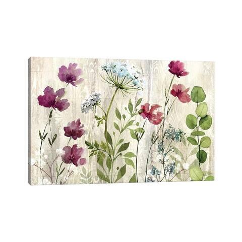 """iCanvas """"Meadow Flowers I"""" by Conrad Knutsen Canvas Print"""