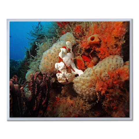 Chris Doherty 'Underwater' Framed Canvas Wall Art
