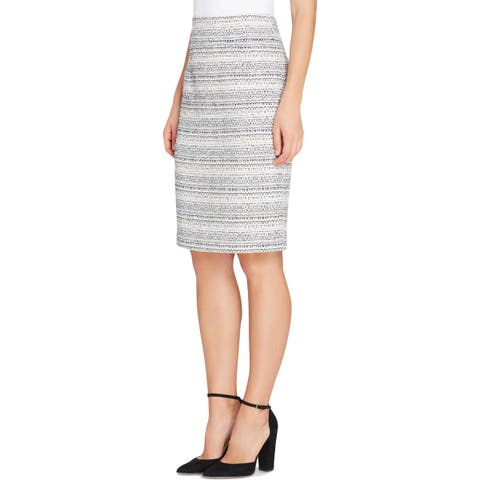 Tahari ASL Womens Pencil Skirt Boucle Work Wear