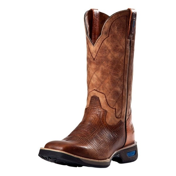 Cinch Work Boots Men Horseman Legend Pull On Lightweight Cognac
