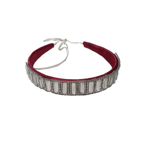 Girls Silver Crystals Headband Fancy Diadem - One Size