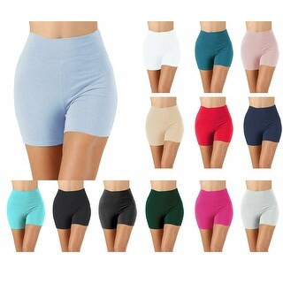 NioBe Clothing Cotton Thick Band Workout Biker Running Shorts