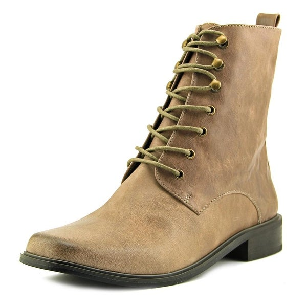 Very Volatile Glasglow Women Square Toe Leather Tan Boot