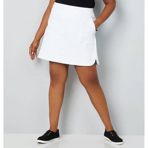 AVENUE Women's Cotton Stretch Skort