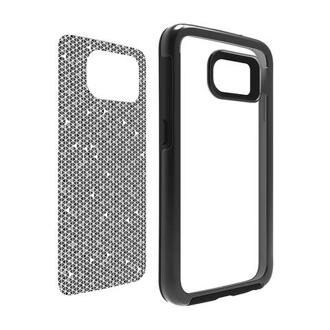 OtterBox My Symmetry Series Protective Case - Black Crystal with Tri Grid Grey Graphic Insert for Samsung Galaxy S6 (ONLY)