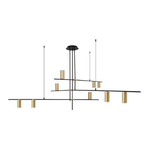 Mid Century Modern 9 Light Suspension Chandelier - 66.9 inch