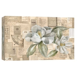 """PTM Images 9-102004  PTM Canvas Collection 8"""" x 10"""" - """"Academic Magnolia Illustration"""" Giclee Flowers Art Print on Canvas"""