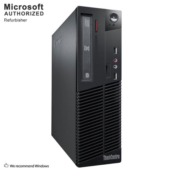 Lenovo M79 SFF, AMD A4-6300B 3.7GHz, 8GB DDR3, 120GB SSD, DVD, WIFI, BT 4.0, HDMI, W10H64 (EN/ES)-Refurbished
