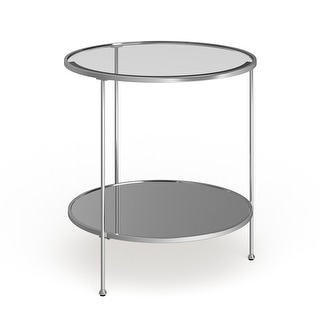 Link to Rainier Round Metal and Glass End Table Similar Items in Living Room Furniture