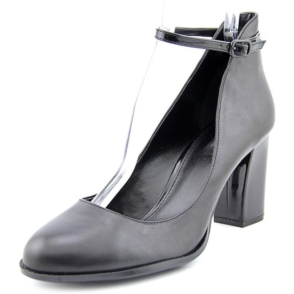 Kenneth Cole Reaction Cross Fire Round Toe Leather Heels