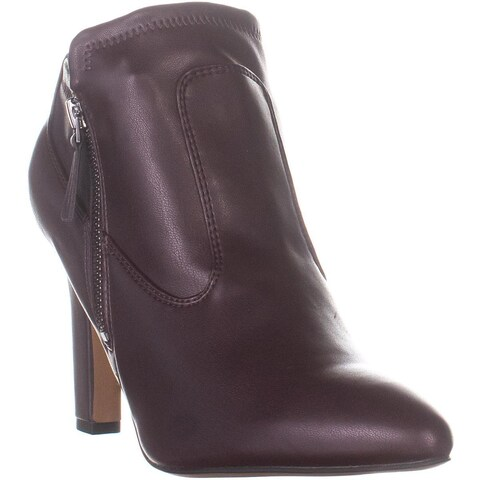Franco Sarto Kaye Pointed Toe Booties, Burgundy - 9 US / 39 EU