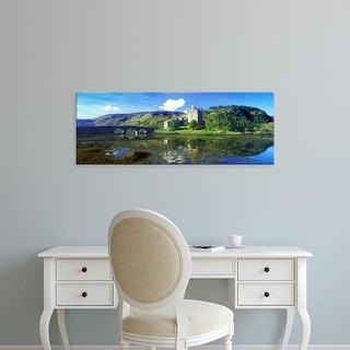 Easy Art Prints Panoramic Image 'castle and mountain, Eilean Donan Castle, Loch Duich, Scotland' Canvas Art