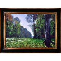 The Road to Bas-Breau, Fontainebleau by Claude Monet Framed Hand Painted Oil on Canvas