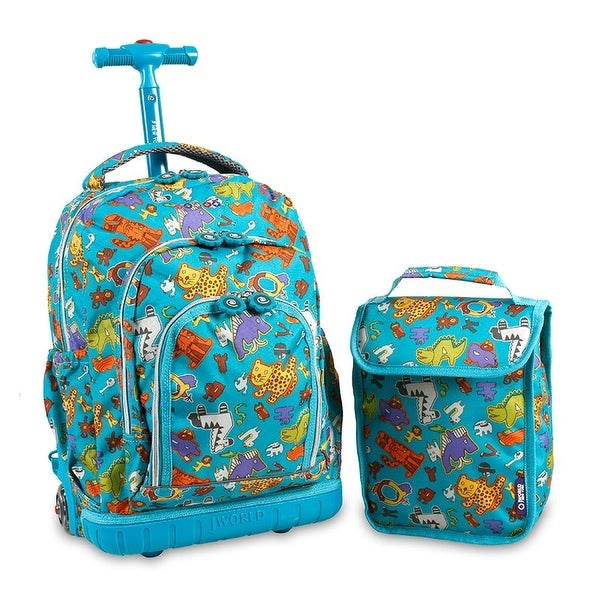 J World New York Lollipop Rolling Backpack - antiphabets