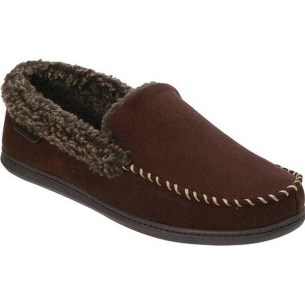 6765a121a094ee Shop Dearfoams Men s MFS Moccasin Slipper with Whipstitch Coffee ...