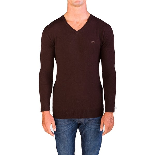 Valentino Men's V-Neck Sweater Burgundy