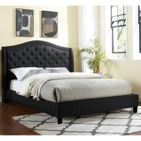Furniture of America Heim Transitional Button-tufted Platform Bed