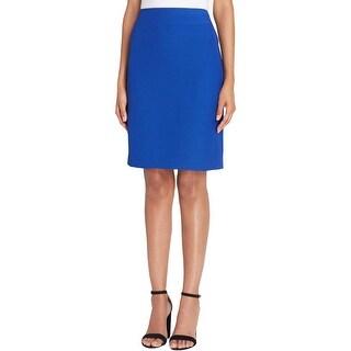 Tahari ASL Womens Petites Pencil Skirt Crinkled Knee-Length