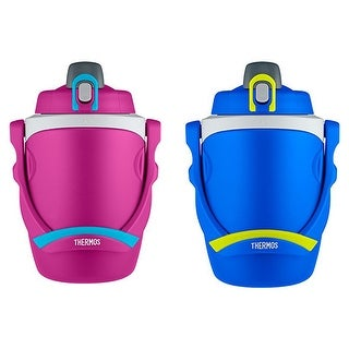 Thermos 2x 64 Ounce Foam Insulated Hydration Bottle, Pink and Blue