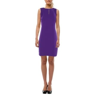 Lauren Ralph Lauren Womens Petites Wear to Work Dress Crepe Sleeveless