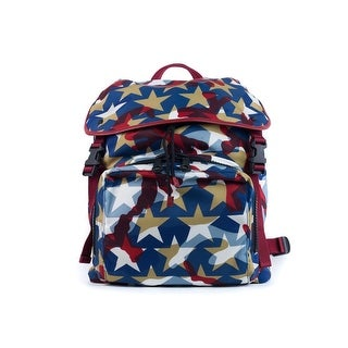 Valentino Multicolor Red Blue White Camustar Nylon Backpack - Multi