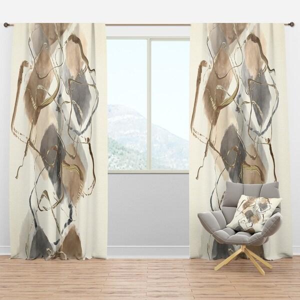 Designart 'Gold Glam Squares IV' Glam Blackout Curtain Panel. Opens flyout.